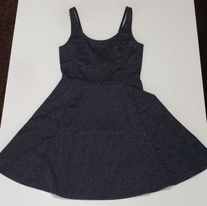 H&M Divided Navy & White Speckled Sun Dress Size 6